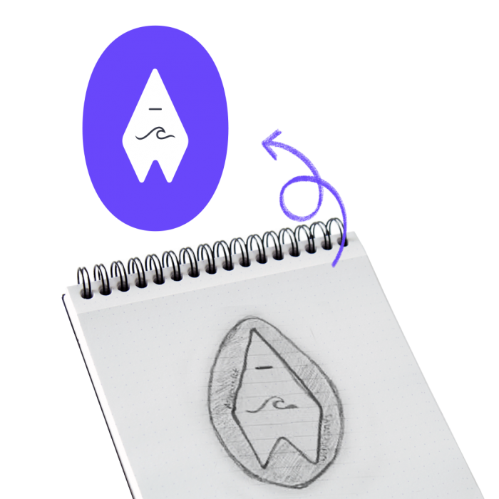 sketch turned into a professional logo